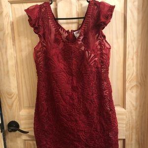 NWT Venice Tattoo Red Dress